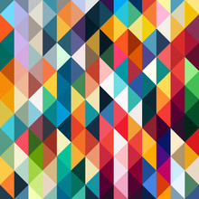 Abstract Geometric Pattern. Colorful Triangles Background