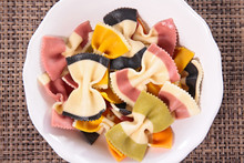 Colored Pasta, Top View