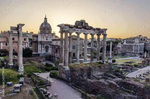 Forum Romanum in early morning light Canvas Print
