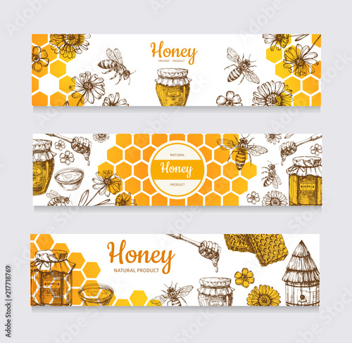 Fotografie, Tablou Honey banners