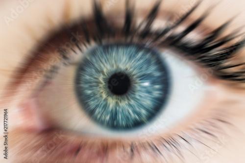 Foto Macro image of human eye blue