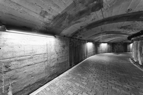 empty old tunnel
