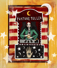 Fortune Teller. Circus Vintage Poster