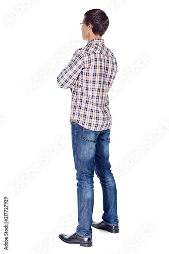 Man with arms crossed full body Wall mural