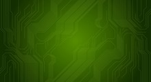 Green Circuit Board Chip Technology Background