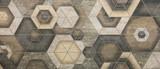 płytki ceramiczne, abstrakcyjne mozaiki ozdobne geometryczny wzór - 217736340