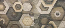 Ceramic Tile, Abstract Mosaic Ornamental Geometric Pattern