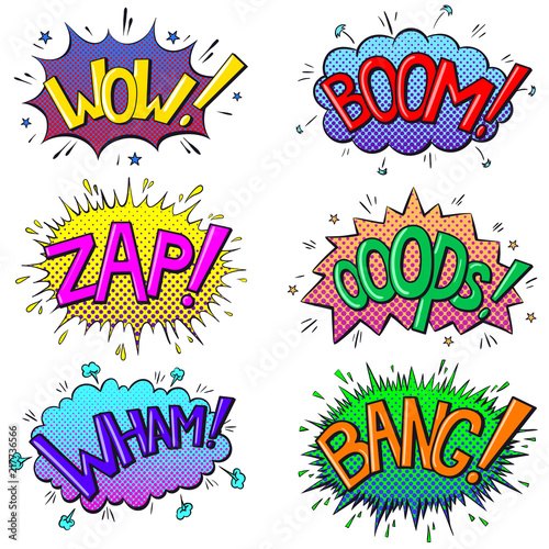 Photo  Comics text sound effects
