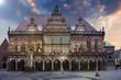 Bremer Rathaus im Morgengrauen