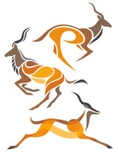 Stylized Antelopes - Kudu