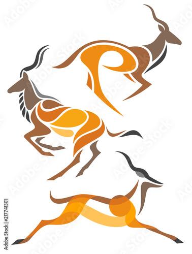 Photo Stylized Antelopes - Kudu