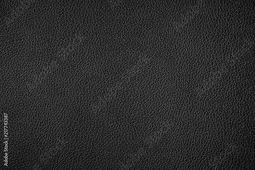 Fotografía  Black leather texture background