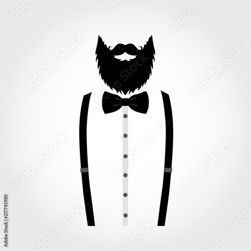 Suit icon isolated on white background. Gentleman icon. Slika na platnu