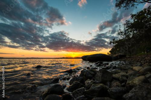 Sunset over Lake Macquarie - New South Wales - Australia