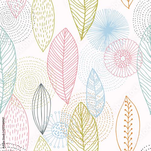 Tapety Kwiaty modne-kwiaty-recznie-rysowane-wzor