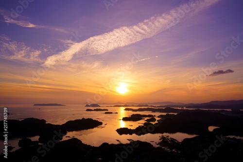 [長崎県]石岳展望台からの景色 Fototapete