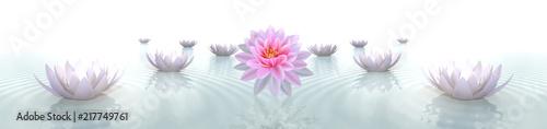 Fotografie, Obraz  Suyun İçerisinde Çiçekler