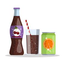 Cherry Cola And Orange Juice