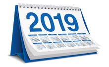 Calendar Desktop 2019 In Blue