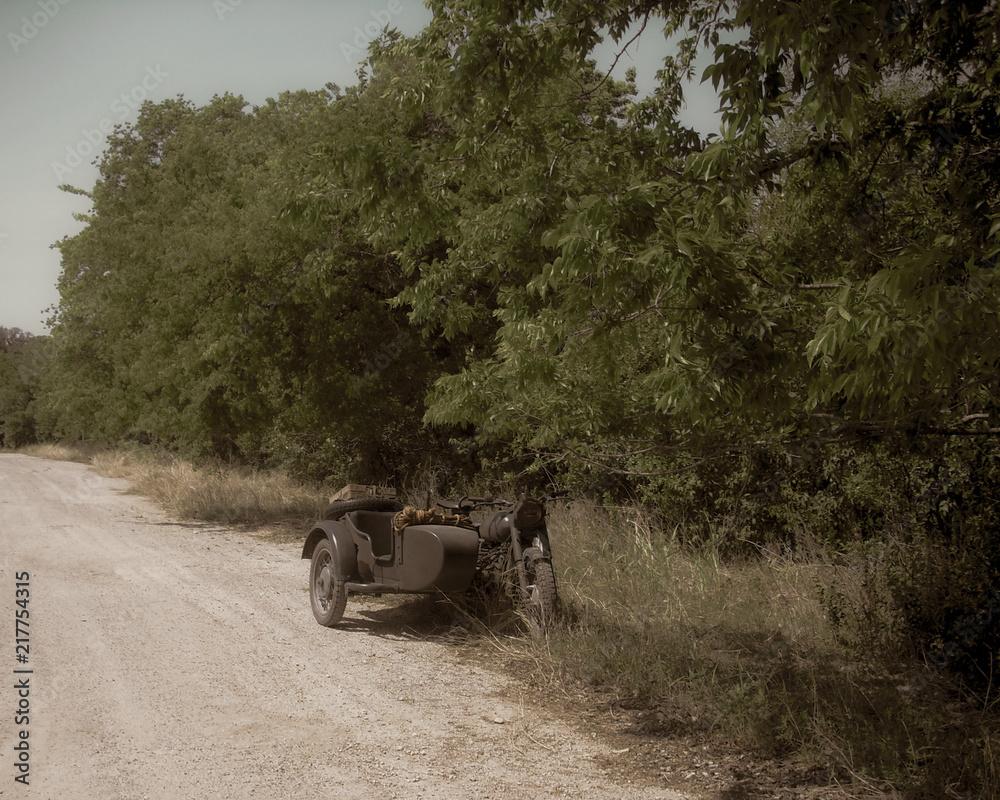 Fototapeta Antique WWII Motorcycle