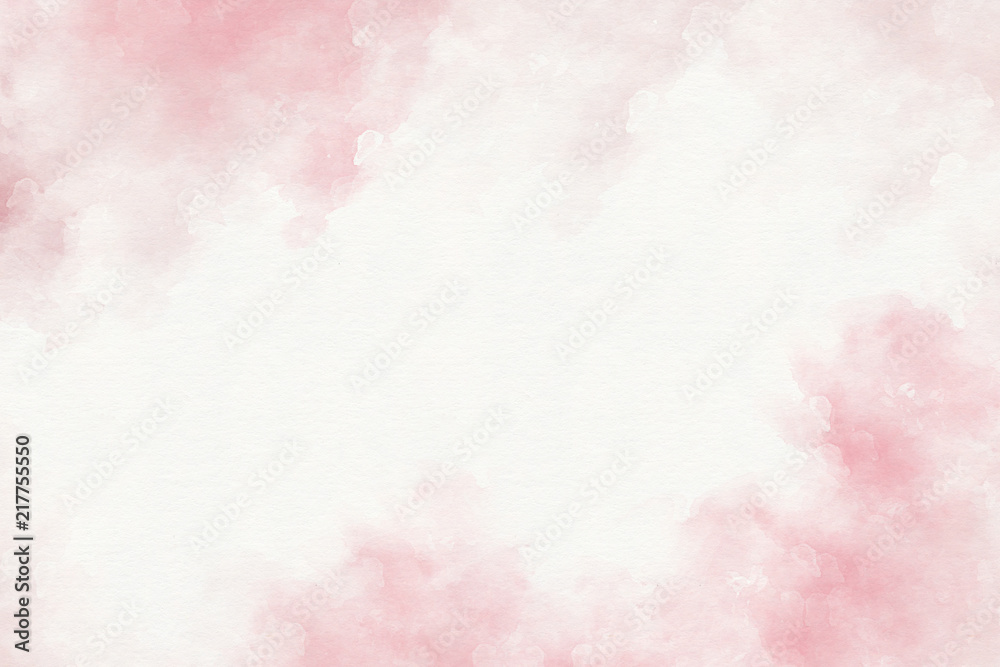 Fototapety, obrazy: Pink watercolor abstract background.