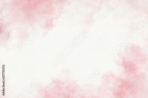 Pink watercolor abstract background.