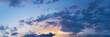 Vibrant panorama sunset sky on twilight time. Beautiful cirrus cloud. Panoramic image