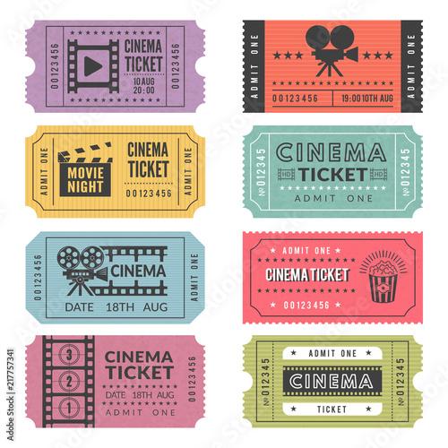 Fotografía  Template of cinema tickets