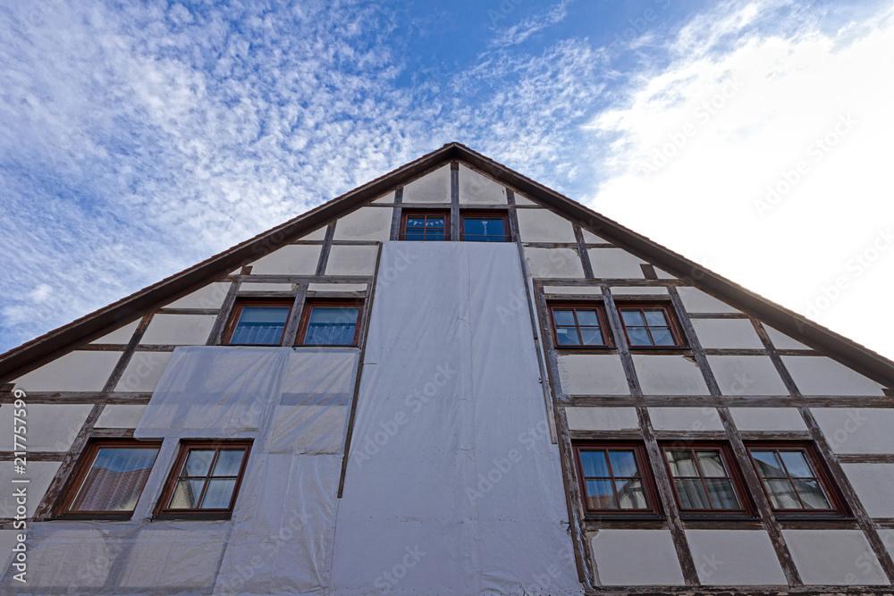 Photo Art Print Altes Fachwerkhaus Fassade Renovieren Europosters