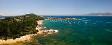 Fonds Marin Et Vue Aérienne Autour De La Presqu'île De L'Isolella Dans Le Golfe D'Ajaccio En Corse Du Sud