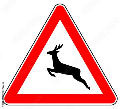 Verkehrszeichen Wildwechsel 142 Hirsch Verkehrsschild