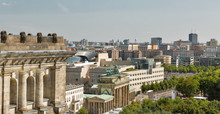 Berlin Cityscape With Bandenburg Gate And Reichstag Building