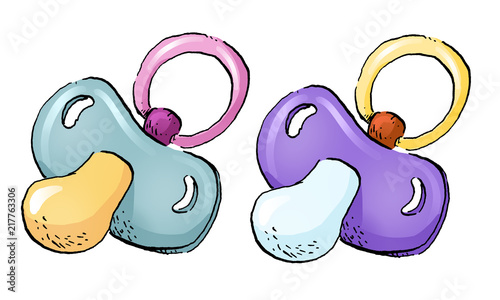 Fotografie, Obraz chupete ilustracion bebe