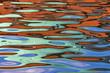 Leinwandbild Motiv Farbenspiel auf dem Wasser