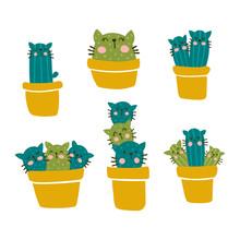 Cactus Cat Set