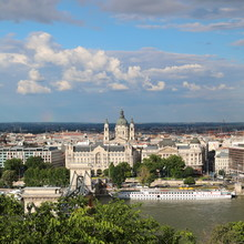 Panoramic View Of Budapest, Fr...