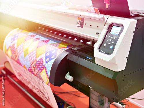 Fototapeta Big plotter printer with LED obraz