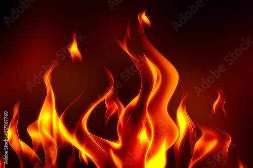 Keuken foto achterwand Vlam Fire.