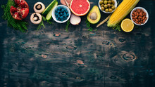 Food. Vegetables, Fruits, Nuts...