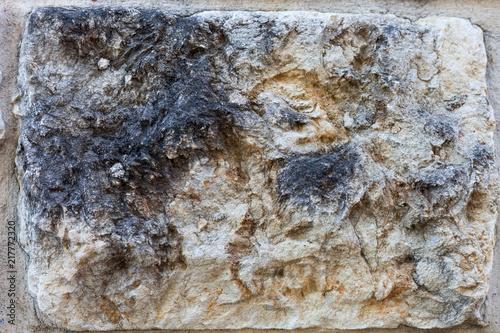 Staande foto Stenen Close up of stone wall slab, grunge background texture