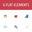Set of immovable icons flat style symbols with options, mortgage, search real estate and other icons for your web mobile app logo design.