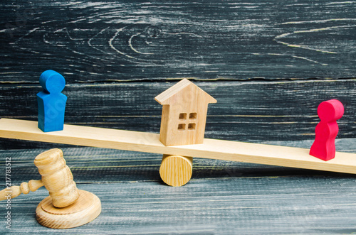 Photo  division of property by legal means
