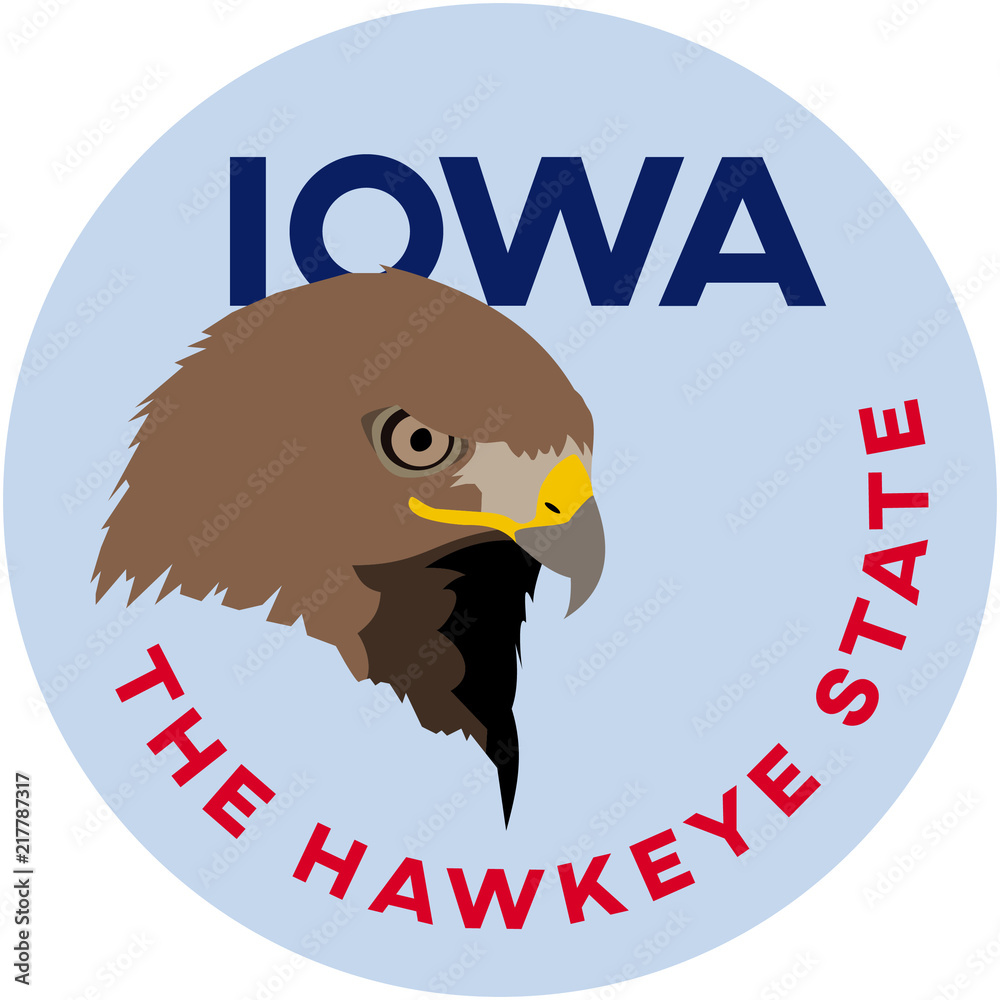 Photo  iowa: the hawkeye state | digital badge