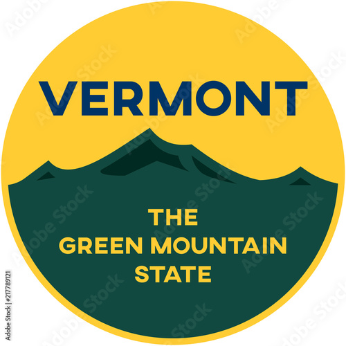 vermont: the green mountain state | digital badge Wallpaper Mural