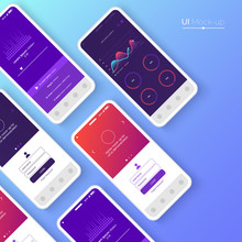 Conceptual Mobile Phones For User Interface, User Experience Presentation. Smartphone Mock-up. Mobile App Interface Design Concept. Vector Eps 10.