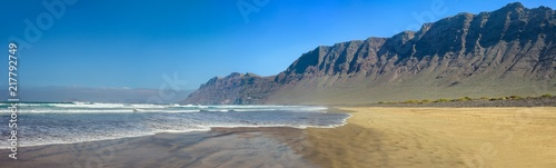 Deurstickers Canarische Eilanden Beach and sea panorama landscape