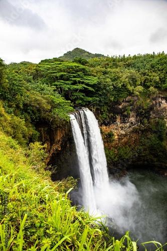 Cascading Jungle Waterfall