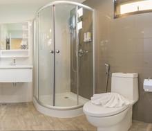 Sector Corner Standing Shower Cabin Bathroom Interior Decoration