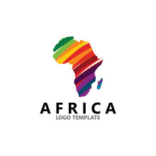 Colorful Africa Map Logo Desig...