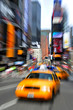Yellow taxi cabs in Manhattan New York City